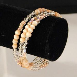Peachy Coil Bracelet